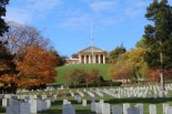 Arlington National Cemetery in the fall by Renee Sklarew