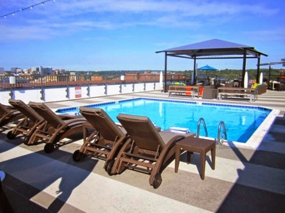 Embassy Row Hotel's rooftop pool, photo by bad wolfdc.com