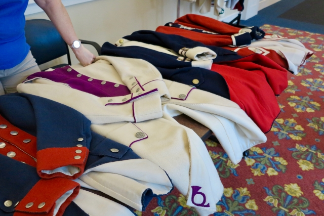 Try on uniforms at American Revolution Museum in Yorktown