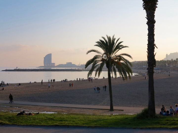 Barcelona Beach sunset