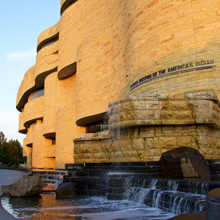 National Museum of the American Indian sunset