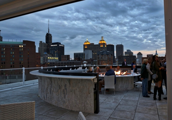 Buffalo Skyline Rooftop bar of Curtiss Hotel