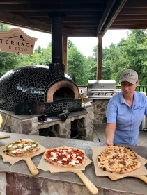 Adams County Winery pizza oven