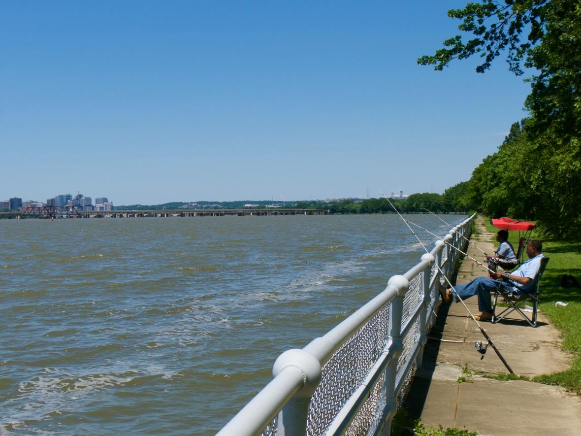 East Potomac Park fishermen