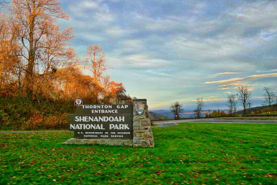 Shenandoah National Park entrance